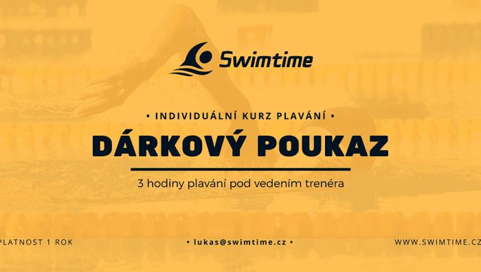 Dárkový poukaz na 3 hodiny individuální kurz plavání