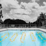 Pool lanes swimming